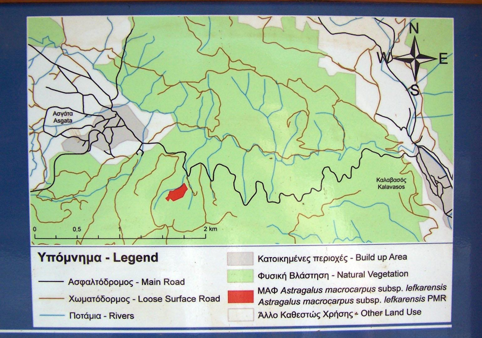 Landkarte rund um Asgata