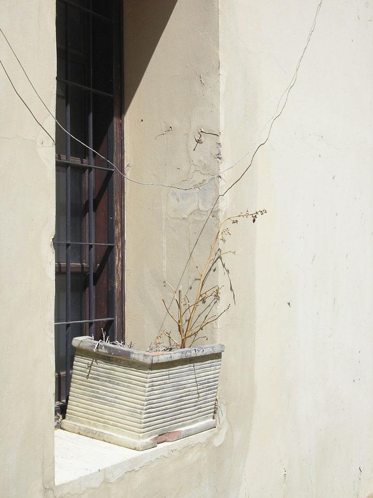 Fenster in einer Gasse in Polis Chrysochou